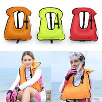 Wholesale Wholesale Swimwear Rings - Inflatable Life Jacket Vest Swimming Vest Life-Saving Float Ring for Snorkeling Surfing Boating Swimming Water Sports Swimwear OOA2290
