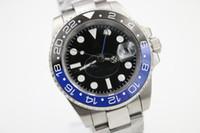 Wholesale Batman Hand - Promotional high quality luxury men's watches GMT 116710 Batman ceramic rotating bezel original hand buckle automatic mechanical watch