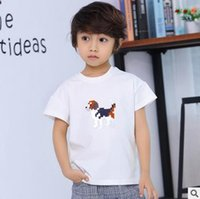 Wholesale Garments T Shirt For Kids - Children clothing Boys t shirt summer kids tops Round Neck Cotton printing short sleeve tees for children garments boys clothes