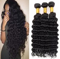 Wholesale Deep Curl Brazilian Weft - 100% Brazilian Virgin Hair Weft Extension Deep Curl Remy Human weave extensions 3pcs lot 25% off DHL Fast Shipping