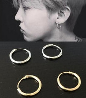 Wholesale Silver Earings Circle - Star With Fashion Personality Circle Earrings, Brass Men And Women Can Wear Earrings Jewelry Wholesale Gold Silver Earings