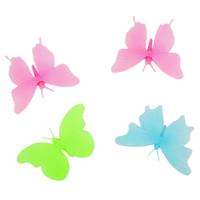 kelebek çocuk odası toptan satış-Diy kelebek çocuk duvar sticker çocuk odası için karanlıkta kızdırma duvar çıkartmaları ev dekor oturma odası floresan posteri duvar kağıdı