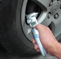 porsche оптовых-Авто тестер давления в шинах ЖК-PSI кПа бар цифровой датчик давления в шинах 4 в 1 Многофункциональный авто безопасности молоток с фонариком