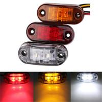 Wholesale Piranha Wholesale - Waterproof ABS Piranha LED Side Marker Blinker Light Brake Signal Lamp 12 24V White Yellow Red For Car Truck Trailers