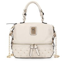 Wholesale Kim Kardashian Yellow - Kim Kardashian Kollection Shoulder Bag Designer Brand Bag Handbags Women Rivet Fashion Bucket Lingge rivet chain package Bags