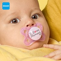 Wholesale Wholesale Mam Pacifier - Wholesale-MAM Love & Affection Top Silicone Nipple Dummy Orthodontic Soother for babies Teether Baby Pacifier Care from 2 to 6 months