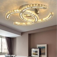 Wholesale lights ceiling bedroom modern chandeliers - Crystal modern led ceiling lights for living room bedroom Crystal Chandelier Lights Indoor Led Modern Ceiling Lamp Lighting Fixtures Best