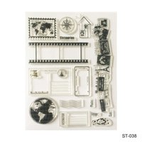 Wholesale Rubber Stamps Set - Wholesale- The earth Design Silicone Transparent Stamp Clear Stamps Set for DIY Scrapbooking Photo Album Decoration Supplies
