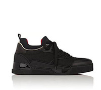 zapatillas de malla de corte bajo al por mayor-2017 nuevo negro Aurelien zapatillas planas de los hombres zapatillas de deporte inferiores rojos hombres remaches de doble color de calidad superior al por mayor