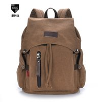 Wholesale- Fashion Men Daily Canvas Sacs à dos pour ordinateur portable Grande capacité Computer Schoolbags Casual School School Bagpacks Travel Sacs à dos