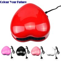 Wholesale Nail Lovely Kit - Wholesale- Suelina Nail Dryer&FREE SHIPPING Beauty LED Nail Tips UV Curing Faster Dryer Gel Light Spa Kit Heart Shaped School Gift Lovely