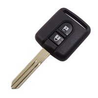 nissan klinge groihandel-Neue Ankunft Nissan 2 Knopf-Fernschlüsselfreier Raum Nissan-Schlüsselkasten mit ungeschnittenem Blatt ersetzen Autoschlüssel