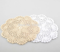 Wholesale hand made round mats resale online - cm hand made Crochet Doily cup mat cup pad MA17648709