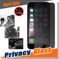 Wholesale Shield For Iphone 4s - Privacy Tempered Glass Screen Protector Anti-Spy Shield 9H Hardness Real Premium Real Film Protective Guard For iPhone 7 Plus 6 6S 5S 5 4S 4