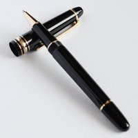 Best Design Executive MB 145 Bolígrafo Black and Golden Roller Ball Pen Bolígrafo Classic Business Office School