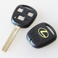 Wholesale Lexus Remote Cover - Best car replacement key case FOB key blank cover for Lexus key shell 3 buttons remote key blank with TOY40 long blade