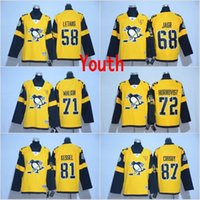 Wholesale Sidney Crosby Cheap Jersey - Youth Pittsburgh Penguins #72 Patric Hornqvist #81 Phil Kessel #87 Sidney Crosby 2017 Stadium Series Cheap Hockey Jerseys All Stitched