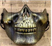 ingrosso maschere paintball scheletro-Eco-Friendly Skull Maschere Fun Paintball PVC Airsoft scheletro spaventoso maschera protettiva CS Giochi Halloween Carnival Party Outdoor