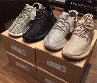 Wholesale Womens Lace Oxford Flats - 2017 Boost 350 Pirate Black Turtle Dove Moonrock Oxford Tan Men womens Running Shoes Women Kanye West Boost 350 V1 Season With Box