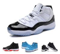 Wholesale E 72 - 2017 High Retro 11 Space Jam Bred Gamma Blue Basketball Shoes Men Women 11s Concords 72-10 Legend Blue Cool Grey Low Barons