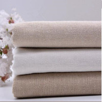 Wholesale 1PCS yard cm Linen fabric plain linen cloth linen handmade DIY fabric curtains background bag solid color fabric tablecloth