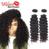 Wholesale Top Malaysian Quality Curly - Sexy Formula Malaysian Curly Hair 3pcs Lot Uglam Hair Deep Wave bundles Free Shipping 100% Human Hair extension Top Quality Malibu DollFace