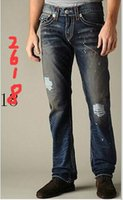 Wholesale Hot Long Boots - Free shipping HOT New True Men Jeans high quality Fashion Trousers Denim designer boot cut Straight Pants tr robin Jeans For Men