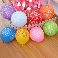 Wholesale Toy Air Balloons - 100pcs 12 inches Globos happy birthday printing Latex Balloons Inflatable Toys Birthday Party Supplies party air balloons