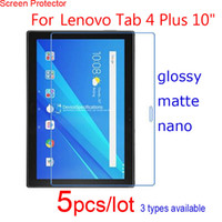 "Wholesale Screen Wards - Wholesale- 5pcs HD Clear Matte Nano Explosion Proof Guard Protective Films Ward for Lenovo Tab 4 10 Plus 10"" Pad Screen Protector Defender"