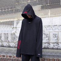 Wholesale French Terry Pullover - 2017 New Vetements French Terry Embroidery Hoodies Hip Hop Oversized Outerwear Good Quality Men Women Couple Casual Hoodies HFXYWY024