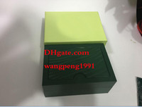 Wholesale 34mm Free - Free Shipping quality Watch Original Box Papers Card Purse Gift Boxes Handbag green185mm 34mm 84mm 0.7KG For 116610 116660 116710 Watches