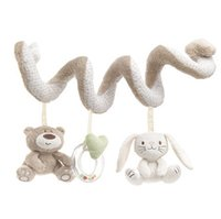 Wholesale Activity Spiral - Mamamiya Papas Soft baby bed Hanging toy Spiral Activity rabbit Round the Bed Baby Educational Rattles Toys LC490