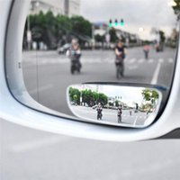 Wholesale Auto Side View Mirror - 2Pcs Car Mirror 360 Degree Wide Angle Convex Blind Spot Mirror Parking Auto Motorcycle Rear View Adjustable Mirror Accessories