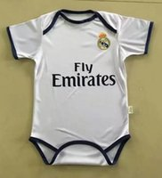 Wholesale Soccer Jerseys Wholesale Cotton - 2017 2018 New chelsea Baby soccer Jersey Cotton Short Sleeved Jumpsuit Baby summer Triangle Climb Clothes Loveclily 17 18 baby's fans shirt