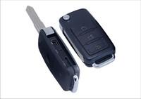 ingrosso portachiavi video digitale-Fotocamera chiave dell'automobile HD Mini videocamere chiave dell'automobile Keychain DVR Digital Voice Video Recorder Supporto fino a 32GB TF card dropshipping S818 5pcs