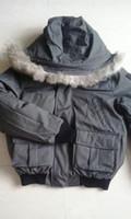 anorakhaube großhandel-NM01 Bomber jacke männer Echtpelzkragen parka Warme Dicke Daunenjacke Anorak Ente Duvet Männliche Kleidung