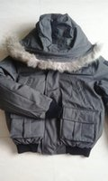 Wholesale Duvet Duck - NM01 Bomber jacket men Real Fur Collar parka Warm Thick Down Coats Anorak Duck Duvet Male Clothes