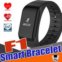 Wholesale Used Pc Monitors - Bluetooth 4.0 Smart Watch Sports Smart Band Wireless Fitness Blood Pressure Watch F1 Smart Bracelet Watch Heart Rate Monitor SmartBand 1 pcs