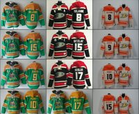 ingrosso mens xl top hockey su ghiaccio-Anaheim Mighty Ducks Jerseys Mens 8 selanne 15 getzlaf 9 kariya 17 kesler 10 Perry Hoodie Cream Orange Top Quality Hockey su ghiaccio con cappuccio