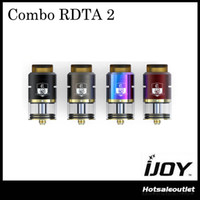 Wholesale Pre Filled - Authentic iJoy Combo RDTA 2 6.5ml Tank Combo RDTA II Atomizer with IMC-10 Deck Pre-made Coil Side Filling System