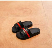 Wholesale Kids Girl Shoes Sandals - 2017 Kids Summer Sandals Slippers Big Bow Baby Girl Fashion Slides Comfortable Shoes Slip On Beach Child Slippers Size 26-34