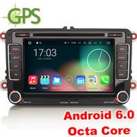Wholesale Dvd Amarok - Octa Core Android 6.0 Car Stereo DVD GPS VW Passat Golf Tiguan Jetta Amarok EOS Sat Nav Radio Wifi DAB+ Mirror Link