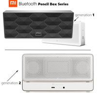 Atacado- Em estoque Original Mi Bluetooth Speaker Lápis Box Series Square Stereo Portable High Definition Bluetooth 10h Play Music