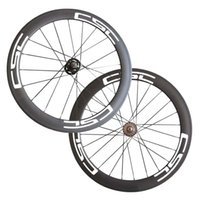 Wholesale Carbon Track Wheels Clinchers - 700C full carbon bicycle wheelset 60mm Tubular carbon track bike wheels Fix Gear Carbon CSC Wheelset