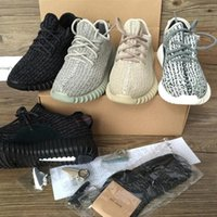 Wholesale Sneaker Boots Shoes - 350 Boost Sneakers Training Shoes Fashion Women and Men Running Sports Shoe Low Kanye West Boots (Keychain+Socks+Receipt+Box)