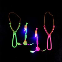 Wholesale Wholesale Skateboard Supplies - DHL Novelty Children Toys Amazing LED Flying Arrow Helicopter for Sports Funny Slingshot birthday party supplies Kids' Gift JC164