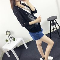 Wholesale Clothing Shrugs - Wholesale-Free shipping New Fashion 2016 Spring Summer Women Knitted Cardigans Sweaters Women sun protective clothes Shrug Blouse