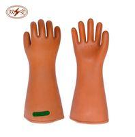 elektrische gummihandschuhe großhandel-35KV elektrische Isolierung Handschuhe Hochdruck Latex Gummi hohe Qualität Verdickung Sicherheit Arbeitsversicherung