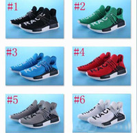 Wholesale Williams Carbon - 2017 new Real Carbon Fiber NMD Pharrell Williams Human Race Boost Humanrace NMD Fashion Casual Running Shoes Size 40-44