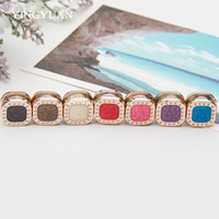 Wholesale Square Brooch - XT88 12pcs lot wholesale New arrive magnet brooch square brooches for women candy colors hijab accessories